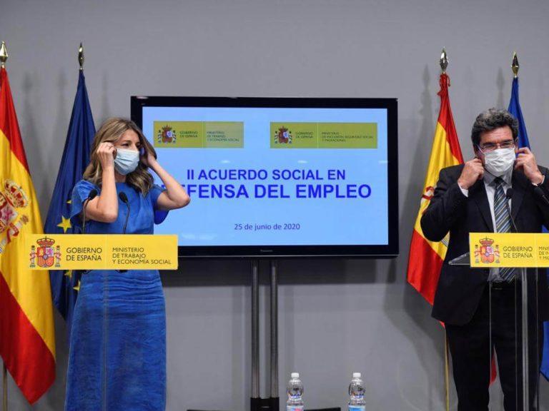 Reunión sobre los ERTE entre gobierno y sindicatos acaba sin acuerdo